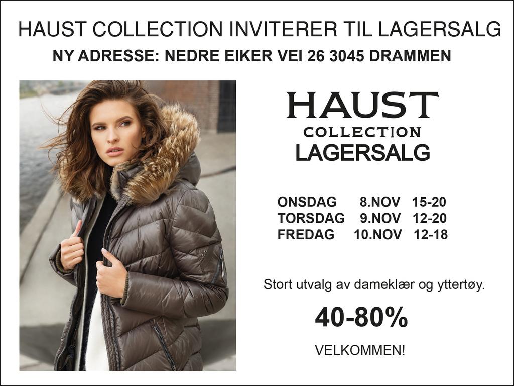 515b1590d LAGERSALG - Haust Collection inviterer til lagersalg