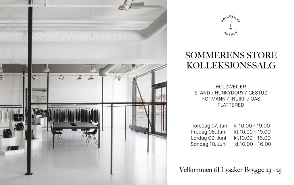 Cover kolleksjonssalg sommer invitasjon juni 2018