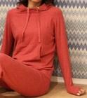 Thumb bh loungewear strikket hettegenser r%c3%b8dmelert