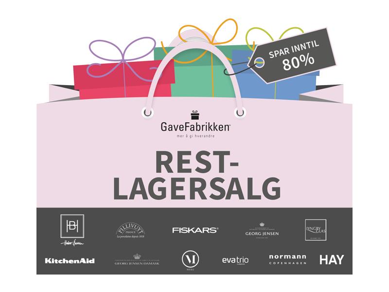 Restlagersalg 2019  banner for lagersalg.no