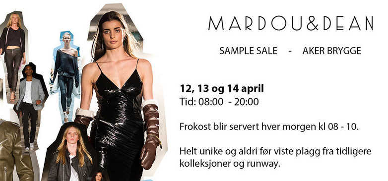 Cover mardou dean aker brygge sample sale