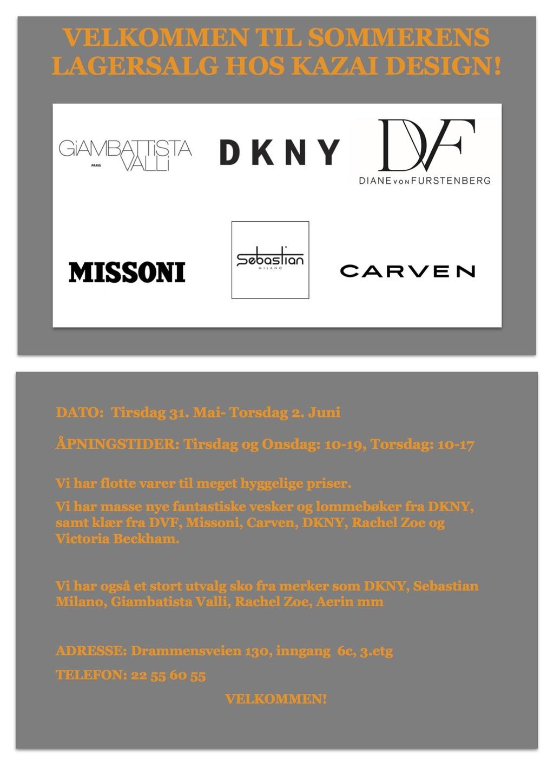 Lagersalginvitasjon kazai design sommer 2016 pdf