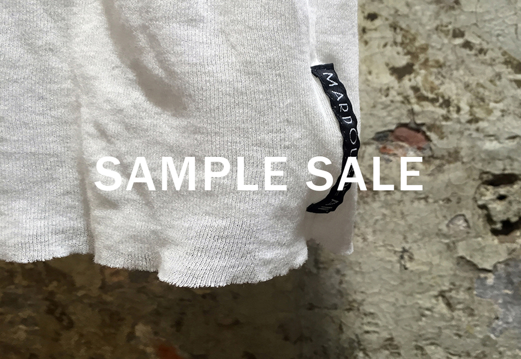 Sample sale poster